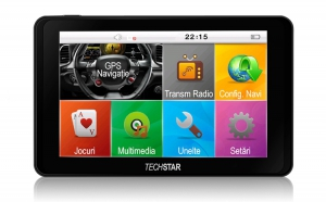 "GPS Auto 5"" TECHSTAR GoTrack HD, Navigatie auto, taxi, TIR, camion, IGO 3D Full EU+RO, la doar 248 RON in loc de 499 RON. 12 luni garantie"