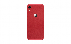 Skin iPhone XR Super TOUCH, Red Leather Texture
