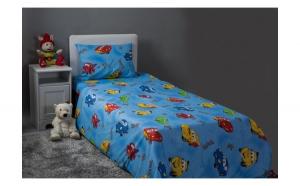 Lenjerie de pat copii Cars, Dimensiune 160 x 200, Bumbac