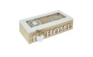 Cutie de depozitare din lemn. model cu 3 compartimente. 24x10x7 cm