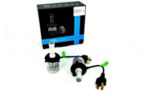 Set Bec H4 2 faze cu LED S2 chip led