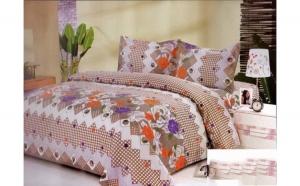 Lenjerie pat 2 persoane - Orange Flowers (4 piese) la doar 79 RON
