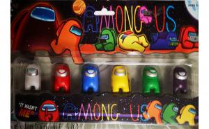 Set de 6 figurine Among Us. multicolor