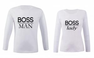 """Set bluze pentru cupluri """"Boss Man/Lady"""""""