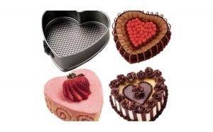 Set 3 forme pentru prajituri - forma rotunda, partrata si inima
