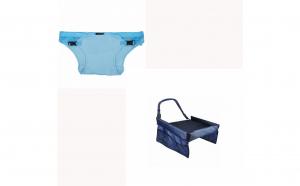Ham portabil pentru scaun Lazybaby+Masuta copii de calatorie pentru masina