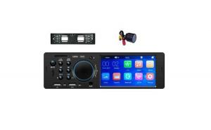 Pachet Mp5 Player cu Camera numar spate si camera Incastrabila Fata, Bluetooth, 4 x 60 W, Ecran 4.1