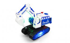 Excavator cu muzica si lumini 3D Robot