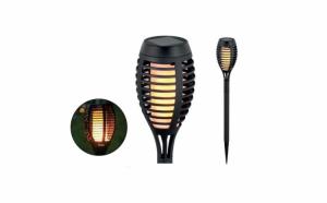 Set 4 x Lampa solara cu efect flacara