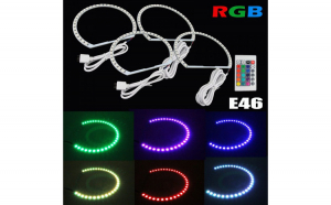Kit Angel Eyes LED SMD BMW E46 RGB cu 16