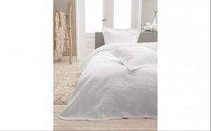 Cuvertura de pat Charlene White, micropercale, 260 X 250, la doar 269 RON in loc de 379 RON