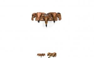 Cuier din Lemn Masiv Elefant