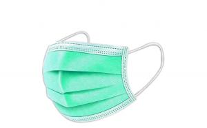 Masca protectie, 3 straturi, 3 pliuri, set 50 bucati,Verde