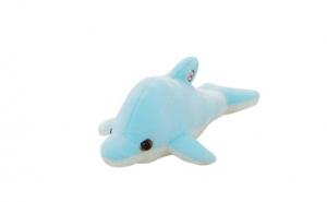 Jucarie de plus,delfin cu lumini, led, albastru