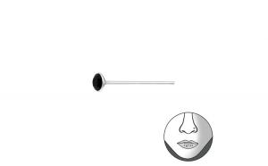 Piercing  nas din Argint, Runda cu cristale Black, A4S37465