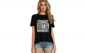 Tricou dama negru - Straight Outta Maramures