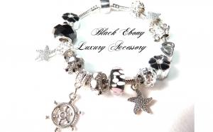Bratara char pentru femei - Ebony Black Premium Luxury Lady