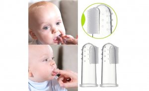 Deget silicon moale pentru dentitie