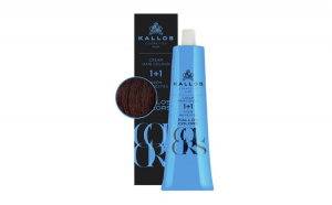 Vopsea de păr cremă Kallos Colors 6M mahon închis