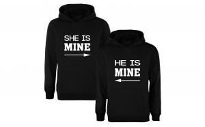 """Set de hanorace pentru cupluri """"She/He is mine"""""""