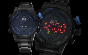 Ceas Weide Black Ops - afisaj ANALOGIC si DIGITAL cu LED camuflat, la 129 RON in loc de 299 RON!