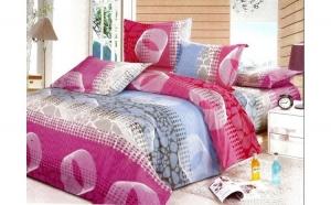 Lenjerie pat 2 persoane - Inelele Dragostei (4 piese) la doar 79 RON