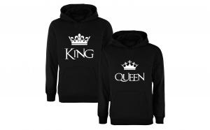 "Set de hanorace pentru cupluri ""King/ Queen"""