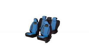 Huse scaune auto HYUNDAI I30 2007-2012  dAL Racing Albastru,Piele ecologica + Textil