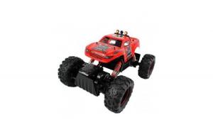 Masina de jucarie Rock Crawler King, cu telecomanda, 4X4, rosu