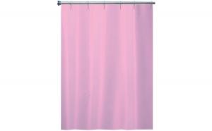Perdea de dus textil uni roz 180x200cm Arvix