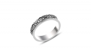 Inel argint cu model