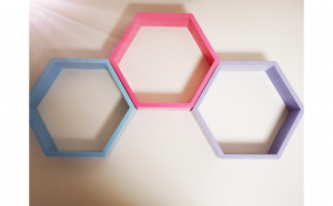 Raft de perete Hexagon