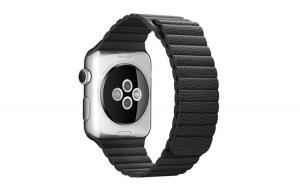 Curea compatibila cu Apple Watch 1/2/3/4, Zale din Piele, Leather Loop, 42mm, Negru