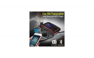 Modulator FM, cu Bluetooth, MP3 independent, handsfree, incarcator cu mufa dubla ( Iphone si Samsung )