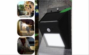 Lampa cu LED - incarcare solara si senzor de miscare