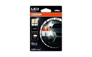 Set 2 becuri auto led Osram LEDriving Premium W5W 1W 12V Portocaliu