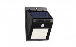 Set 2 x lampa 20 LED cu incarcare solara si senzor de miscare