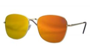 Ochelari de soare Aviator Oglinda Portocaliu deschis cu reflexii - Auriu