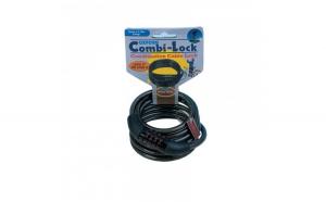 Lacat combinatie cu cablu 1500mmx6mm  Negru