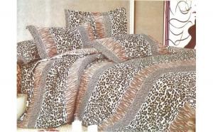 Lenjerie pat 2 persoane - Leopard (4 piese) la doar 79 RON