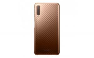 Husa Samsung Gradation pentru Samsung Galaxy A7 2018 A750 gold (EF AA750CFEGWW)