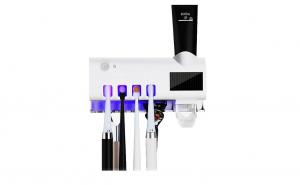 Dozator pasta de dinti cu alimentare solara si sterilizator UV pentru periute