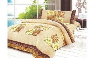 Lenjerie pat 2 persoane - Cerbul de aur (4 piese) la doar 79 RON