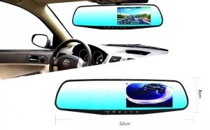 Oglinda retrovizoare cu camera fata-spate, ecran 4,3 inch, night vision! Garantie 12 luni!
