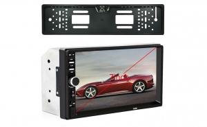 Mp 5 player 2 DIN, Mirrorlink, Camera suport numar, telecomanda, ecran 7 inch, Bluetooth, USB, Phone Link
