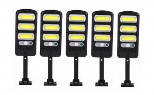 Set 5 X Lampa Solara Led, Senzor, Led COB, 30w, 39Cm
