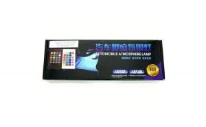 Lumini Ambientale auto Kit interior 12v cu LED SMD RGB cu telecomanda Wireless si senzor muzica JST 1140
