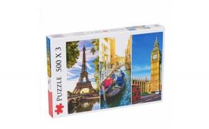 Puzzle modern Paris, Venetia si Londra,