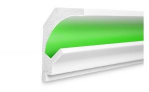Profil pentru banda LED din polistiren extrudat acoperit cu rasina minerala KD201 (1.15m)