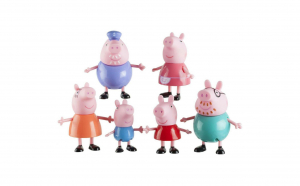 Set figurine Peppa Pig - 6 Personaje, Happy Family